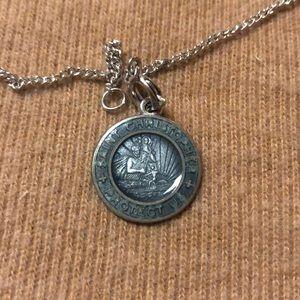 Vintage sterling silver Saint Christopher